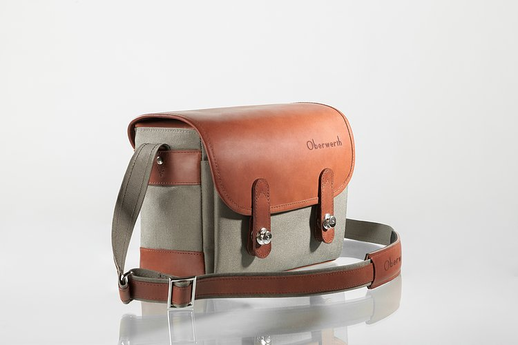Bild 2 - OBERWERTH Freiburg Cordura Leather Light Brown ( Camera Bag 100% Made In Germany)