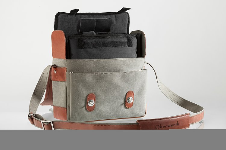 Bild 3 - OBERWERTH Freiburg Cordura Leather Light Brown ( Camera Bag 100% Made In Germany)