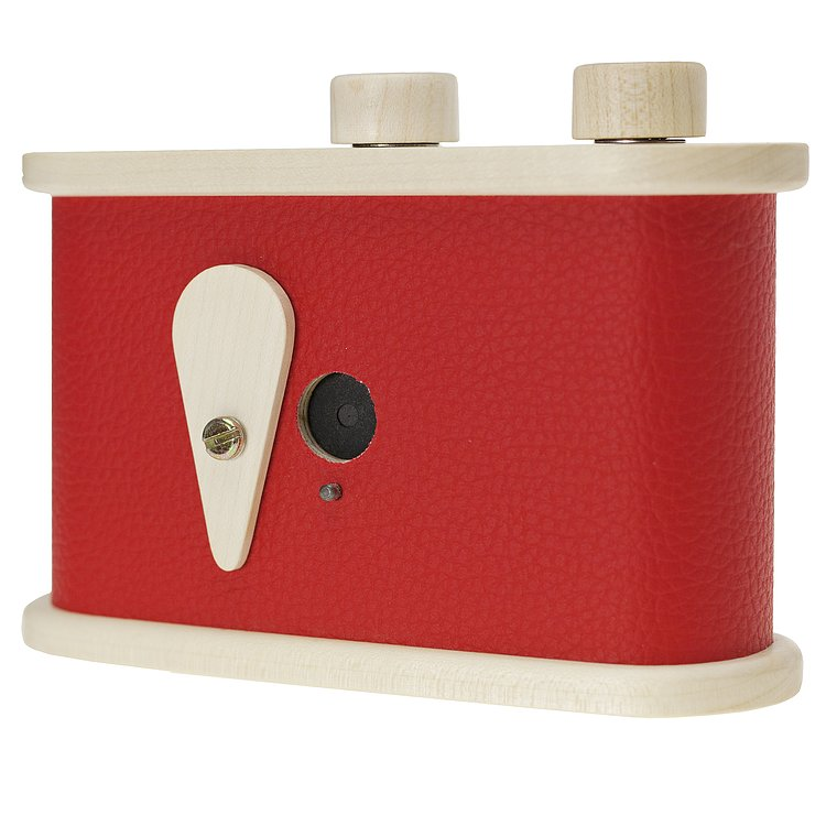 Bild 2 - LEROUGE 6x6cm wooden Pinhole Camera (red)
