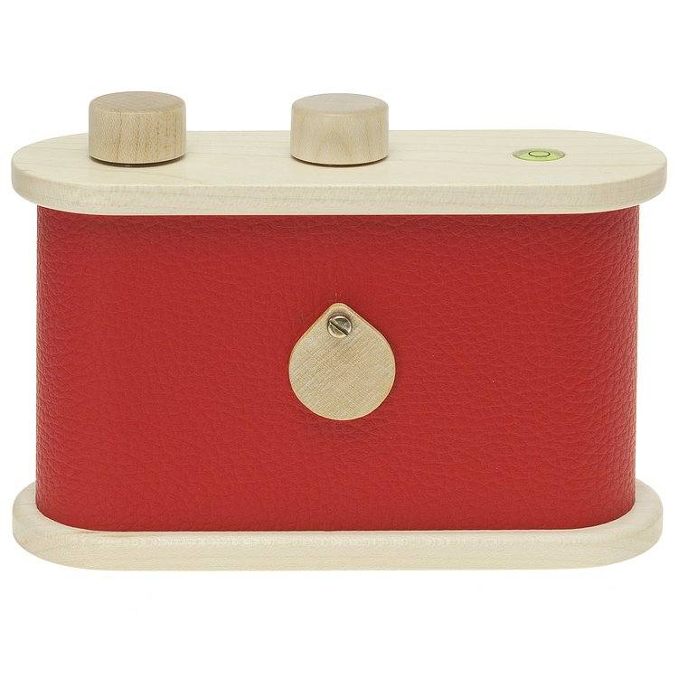 Bild 3 - LEROUGE 6x6cm wooden Pinhole Camera (red)
