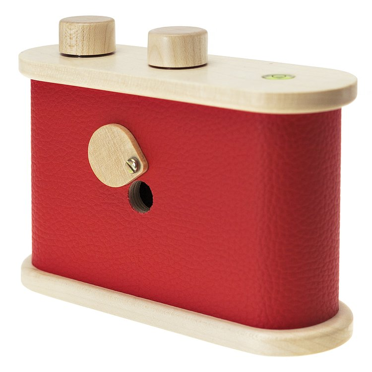 Bild 4 - LEROUGE 6x6cm wooden Pinhole Camera (red)