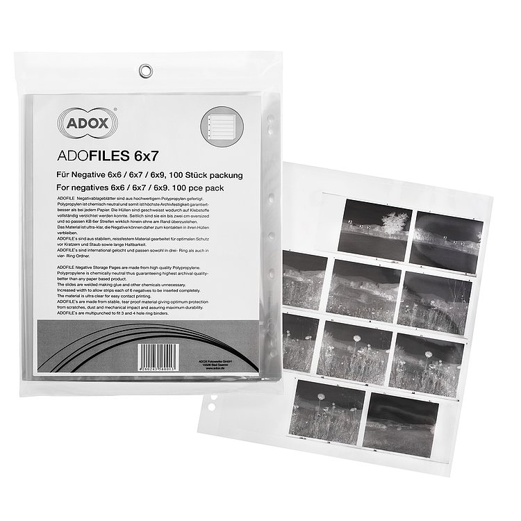 Bild 2 - ADOX Adofile Polypropylene Negative Sleeves For Medium Format 6x6/6x7/6x9 Oversized