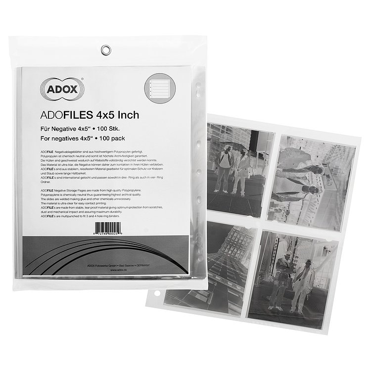 Bild 2 - ADOX Adofile PolypropyleNe Negative Sleeves For 9x12 cm (4x5-Sleeves)