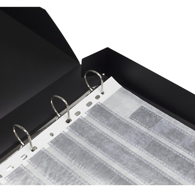 Bild 2 - ADOX Adofile Archival Ring Binder, black Plastic With Ring Closure