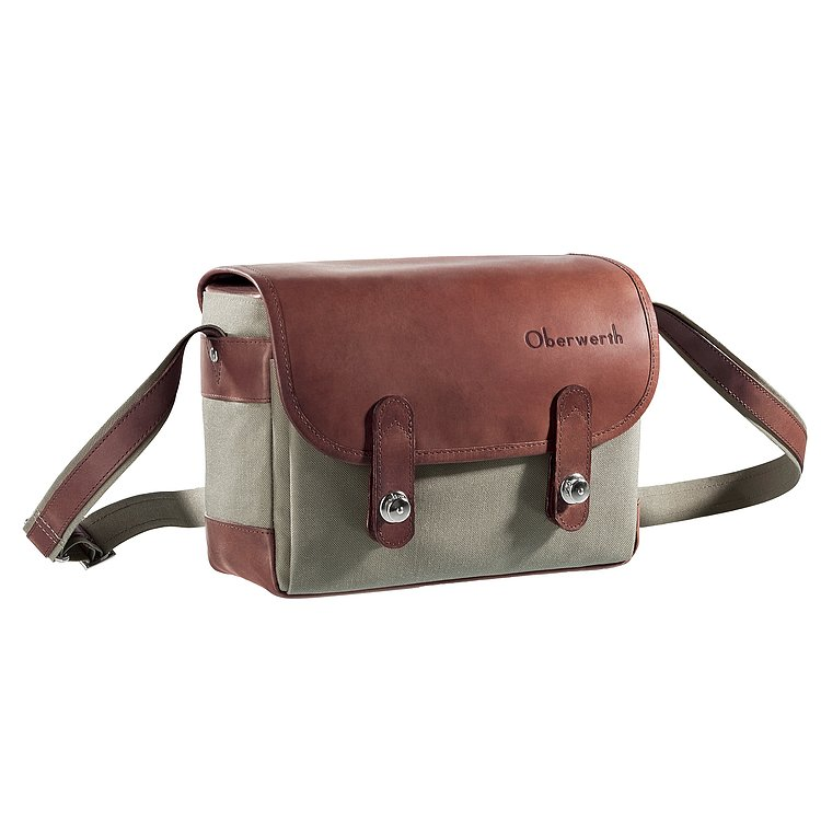 Bild 1 - OBERWERTH Freiburg Cordura Leather Light Brown ( Camera Bag 100% Made In Germany)