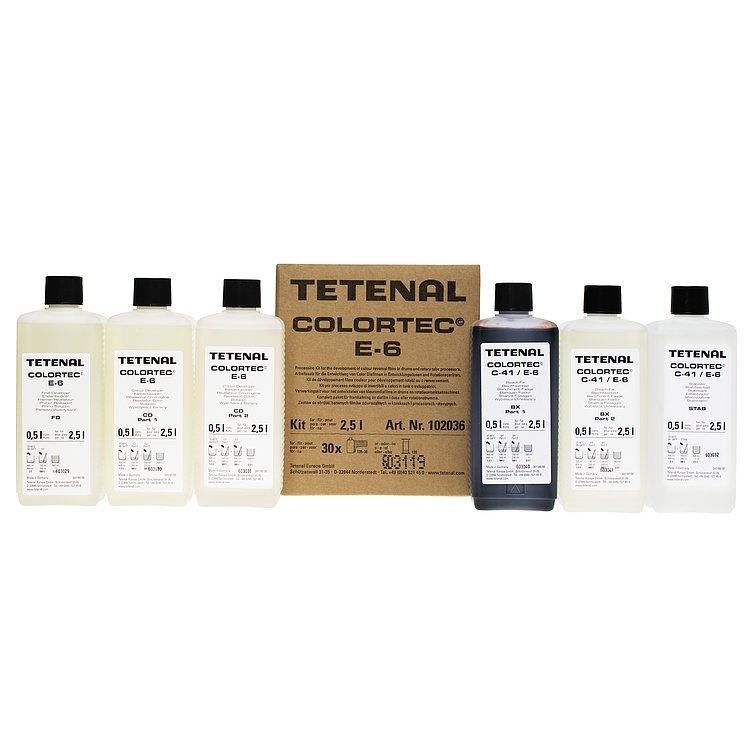 Bild 1 - TETENAL Colortec E6 Kit For Tank Or Rotation - 3 Baths, For 30 Films