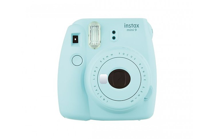 Bild 1 - FUJI Instax Mini 9 ice blue incl. Batteries + belt