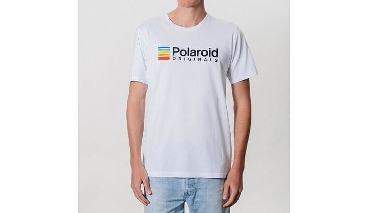 Bild 1 - POLAROID ORIGINALS T-shirt (white) with color logo - size L