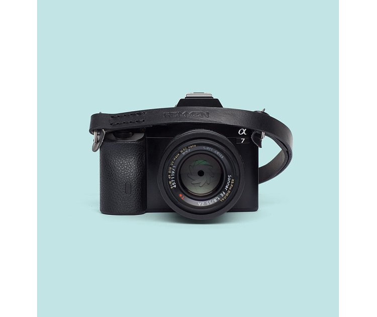 Bild 1 - REMMEN REMMEN Leather Camera strap No.2 Black