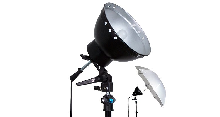 Bild 1 - ADOLIGHT 21cm Lamp With Lamp Socket And Metal Reflector