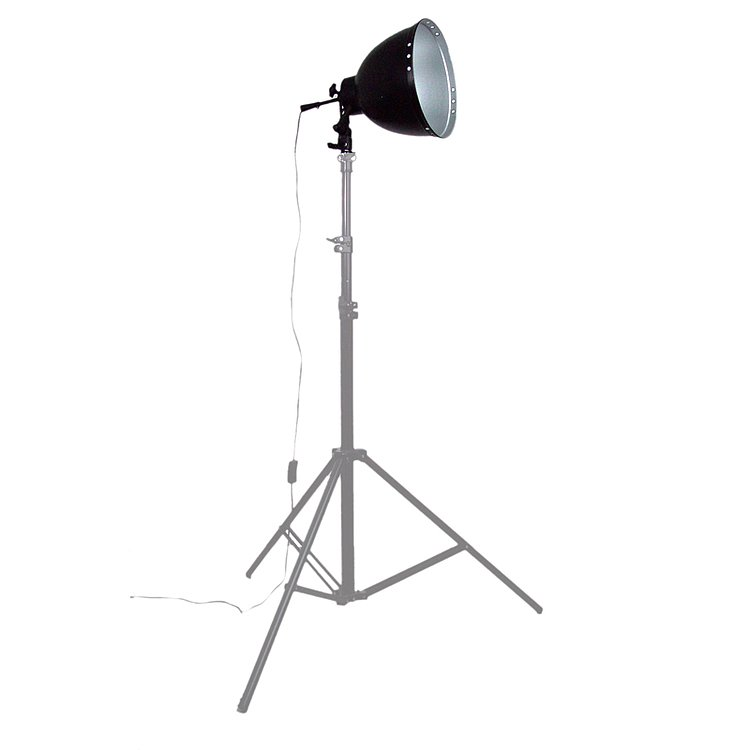 Bild 1 - ADOLIGHT 26cm Lamp With Lamp Socket And Metal Reflector