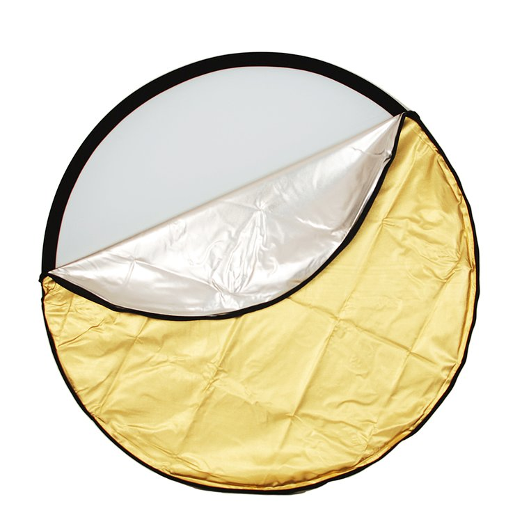 Bild 1 - ADOLIGHT Folding Reflector 5-In-1 With Reversible Cover 80 cm