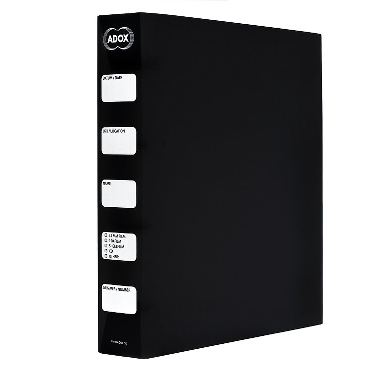 Bild 1 - ADOX Adofile Archival Ring Binder, black Plastic With Ring Closure