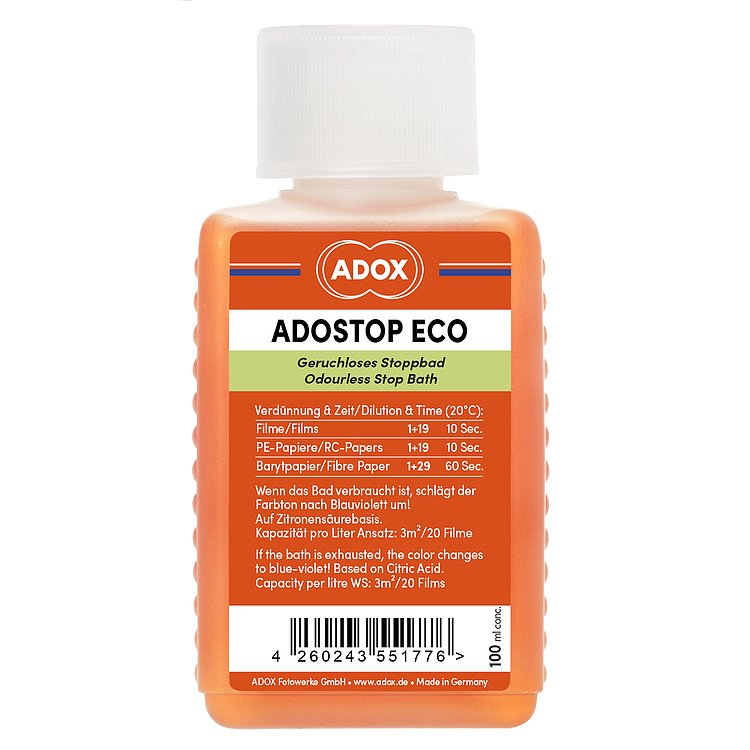 Bild 1 - ADOX ADOSTOP ECO Geruchloses Stoppbad with Indicator 100 ml Concentrate