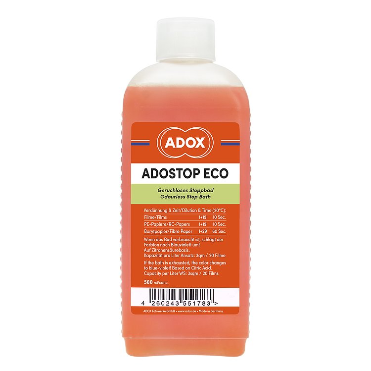 Bild 1 - ADOX ADOSTOP ECO Stopbath with Indicator 500 ml Concentrate