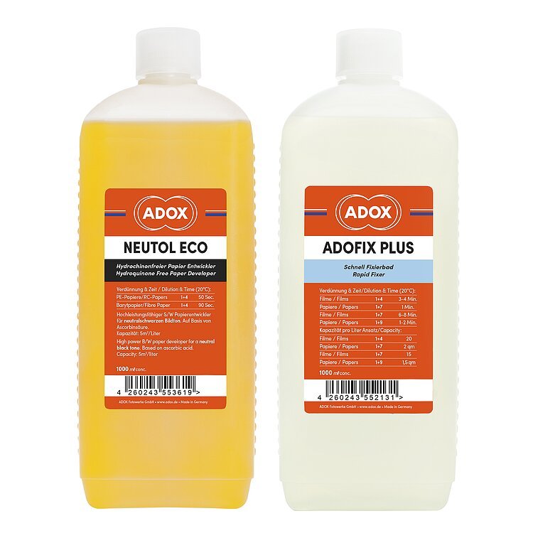 Bild 1 - Bundle out of 1 X ADOX Neutol Eco 1000 ml Concentrate + ADOX ADOFIX Plus 1000 ml Concentrate