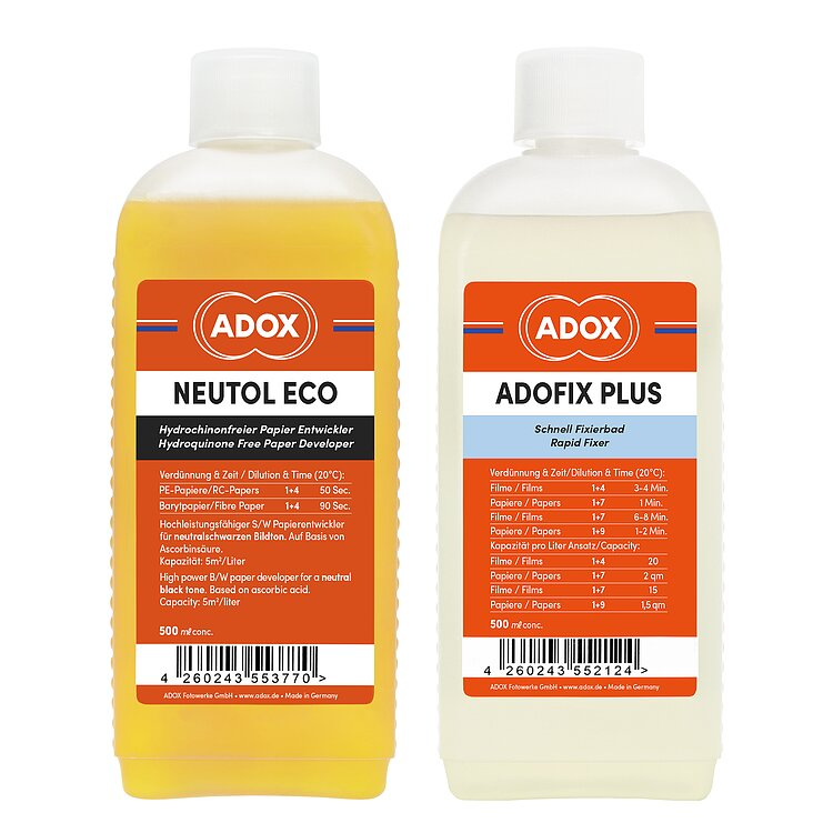 Bild 1 - Bundle out of ADOX Neutol Eco 500 ml Concentrate + ADOX ADOFIX Plus Fixer 500 ml Concentrate