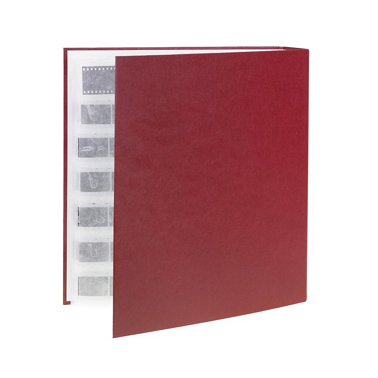 Bild 1 - FOTOIMPEX Archival binder for 200 sheets with dust protection box bordeaux