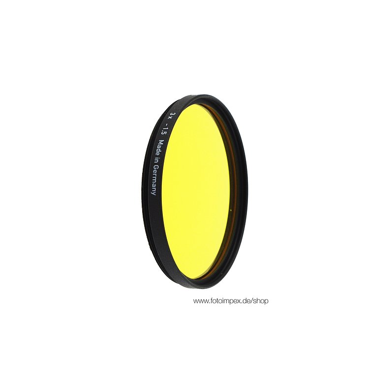 Bild 1 - HELIOPAN Filter Medium-Dark-Yellow (12) - Diameter: 30,5mm