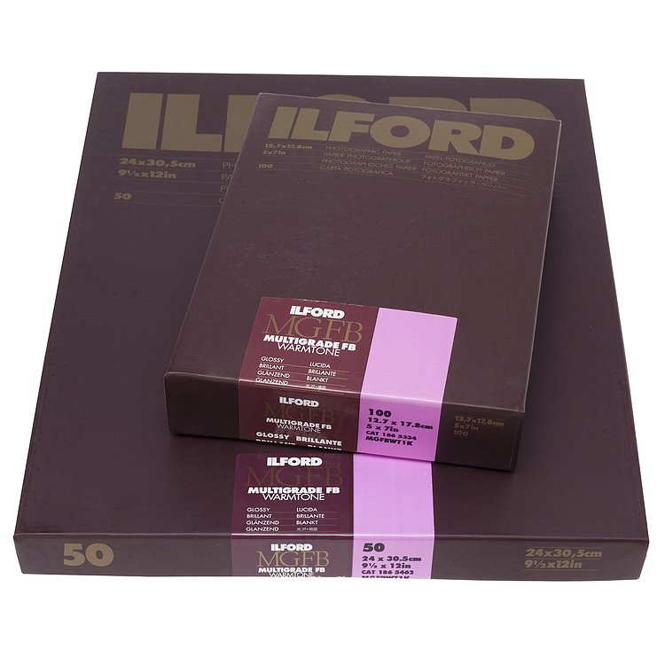 Bild 1 - ILFORD Multigrade FB Warmtone 1K - Natural Gloss - 13x18 / 100 Sheets - Gradation: Variable