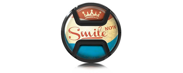 Bild 1 - KAISER Style Snap-On Lens Cap Smile Now