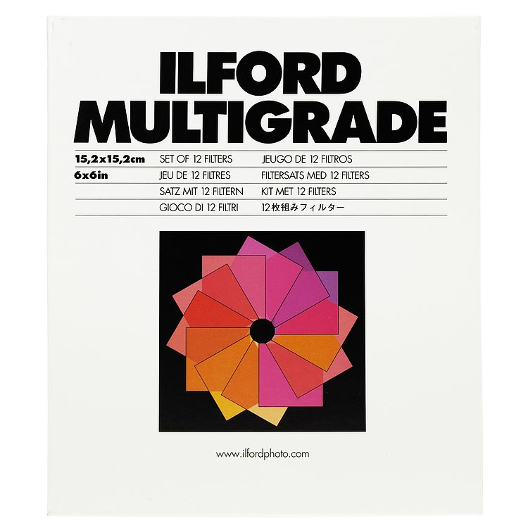 Bild 1 - ILFORD Multigrade Filter-Set GelatiNe 15x15cm