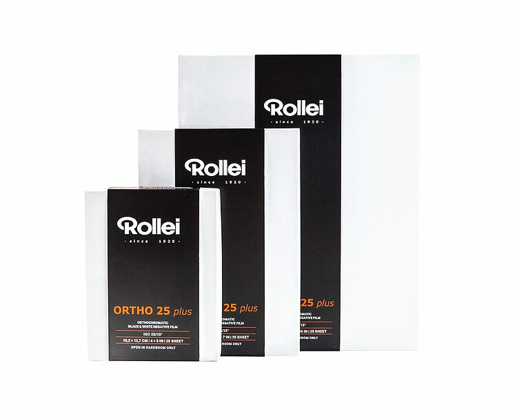 Bild 1 - ROLLEI Ortho 25 Plus 20,3x25,4 CM (8x10 INCH) / 25 Sheets