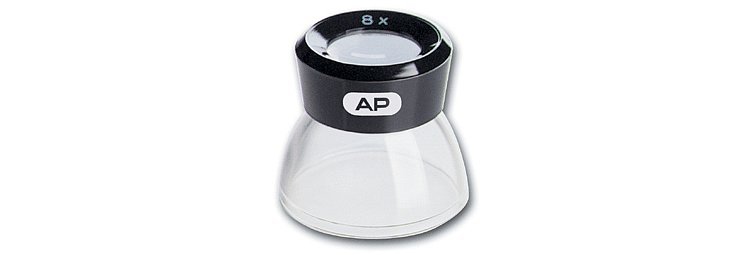 Bild 1 - AP 8x Loupe, Plastic With Transparent Foot