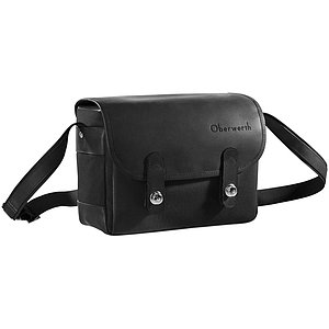 OBERWERTH Freiburg Cordura Leather Black ( Camera Bag 100% Made In Germany)