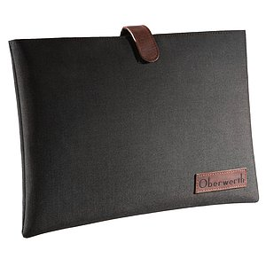 OBERWERTH Notebooksleeve München/Leipzig Leather Black-Brown