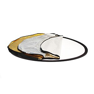 ADOLIGHT Folding Reflector 5-In-1 With Reversible Cover, Oval Form, 92 X 122 cm