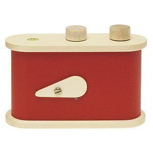 LEROUGE 6x6cm wooden Pinhole Camera (red)
