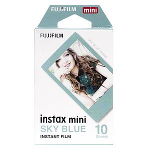 FUJI Instax Mini Instant Film Blue Frame Edition 10 Exposures