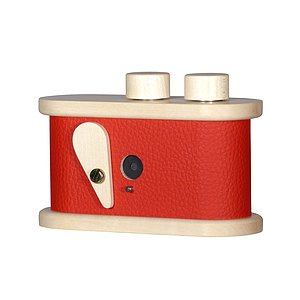 LEROUGE 135 Pinhole Camera made of wood (red)
