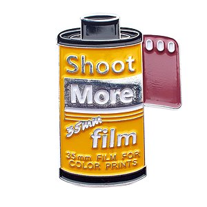 OFFICIAL EXCLUSIVE Shoot more 35mm Film Pin /Anstecknadel