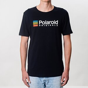 POLAROID ORIGINALS T-shirt (black) with color logo - size XL
