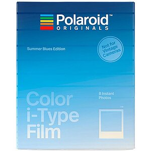 POLAROID ORIGINALS Color Film for i Type Summer Blue with 8 exposures