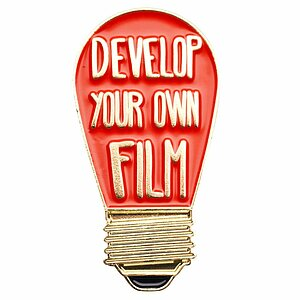 OFFICIAL EXCLUSIVE Develop Your Own Film Darkroom Red Bulb Pin
