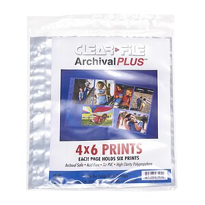 CLEAR FILE File Polypropylen Sleeves 10x15cm 25 Per Pack (4x6)