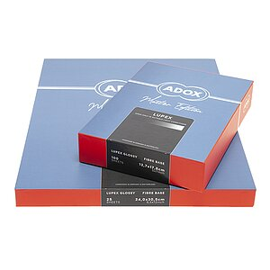 ADOX LUPEX Silver Chloride Contact Paper - Natural Gloss - 8 INCHx10 INCH / 5 Sheets - Gradation: Normal (3)