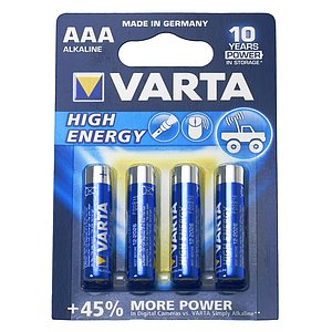 VARTA Battery Micro Aaa 4Er Blister Pack