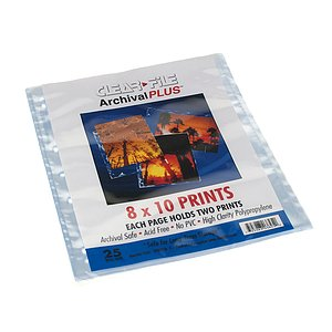 CLEAR FILE File Polypropylen Sleeves 20x25cm 25 Per Pack (8x10)