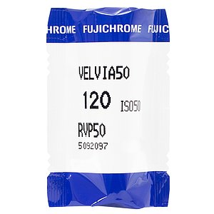 FUJI Velvia 50 120 Medium Format Film (single roll)
