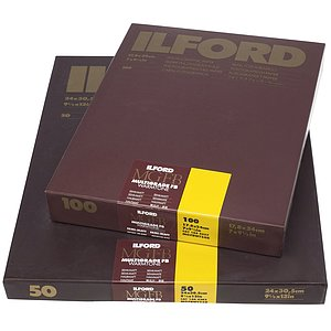 ILFORD Multigrade FB Warmtone 24K - Semi-Matte (Fibre) - 18x24 / 100 Sheets - Gradation: Variable