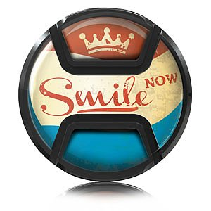 KAISER Style Snap-On Lens Cap Smile Now