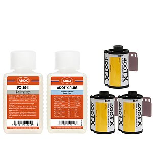 Bundle out of 3 X KODAK TRI-X 400 135/36 + ADOX FX-39 TYPE II 100ml Concentrate + ADOX BABY ADOFIX Plus 100 ml Concentrate
