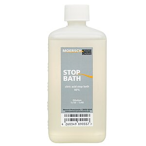 MOERSCH Citric Acid Stop Bath 500 ml Concentrate