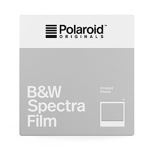 POLAROID ORIGINALS B&W Spectra Film with 8 exposures