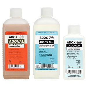 Bundle out of ADOX Rodinal 500 ml Concentrate + ADOX ADOFIX Plus Fixer 500 ml Concentrate + ADOX ADOFLO II 100 ml Concentrate