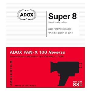 ADOX PAN-X Reverso Super 8 movie film 15 meters